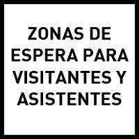 Zonas de espera para visitantes y asistentes