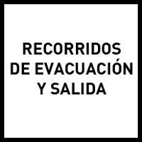 Recorridos de evacuación y salidas