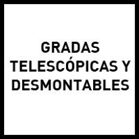 Gradas telescópicas y desmontables