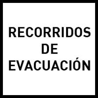 Recorridos de evacuación